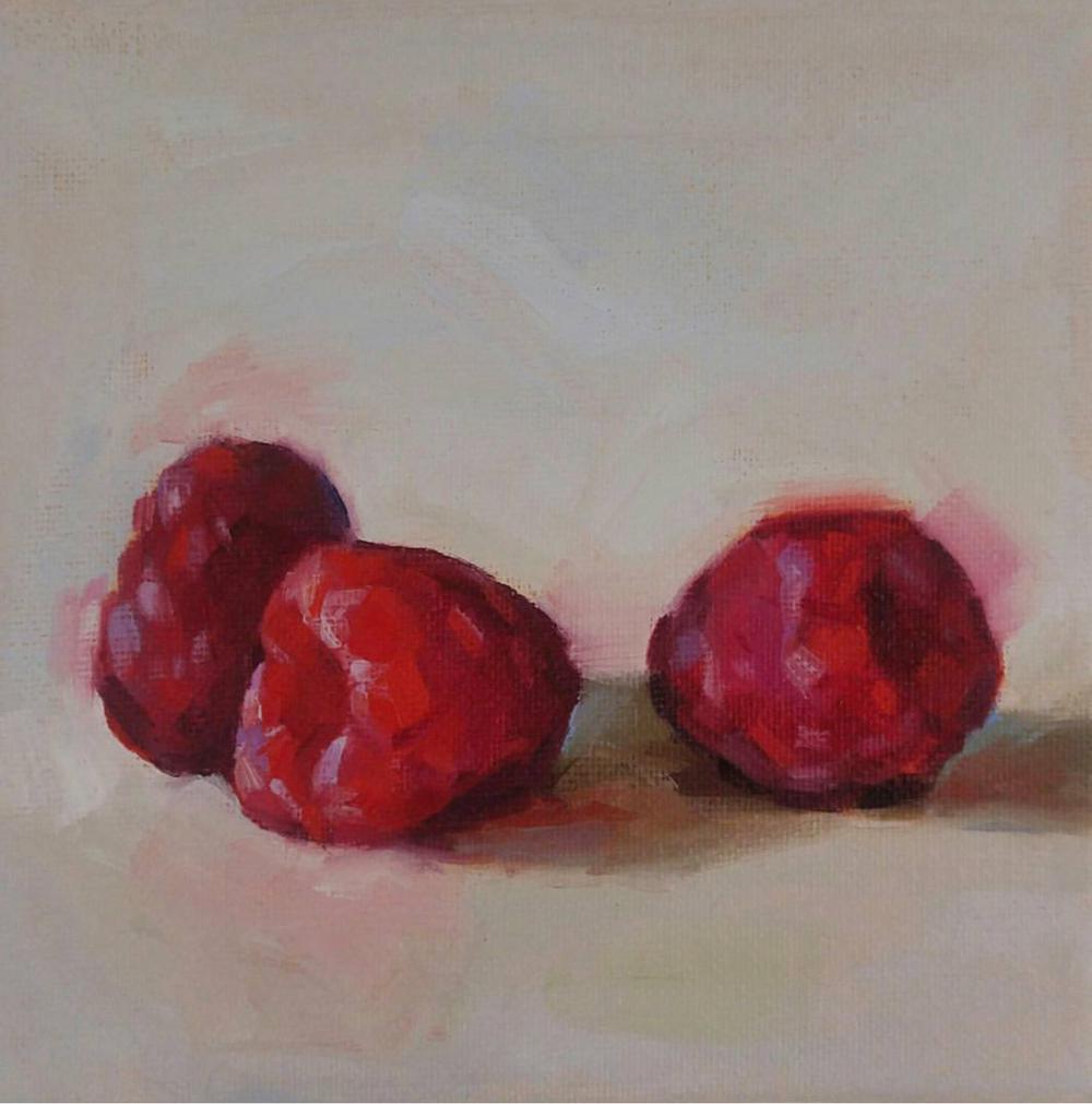 Raspberries, 6x6
