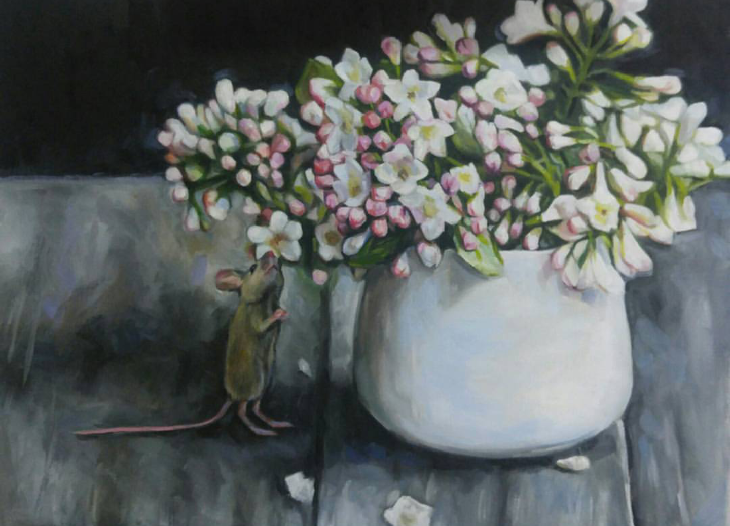 Little Flower Sniffer, 11x14