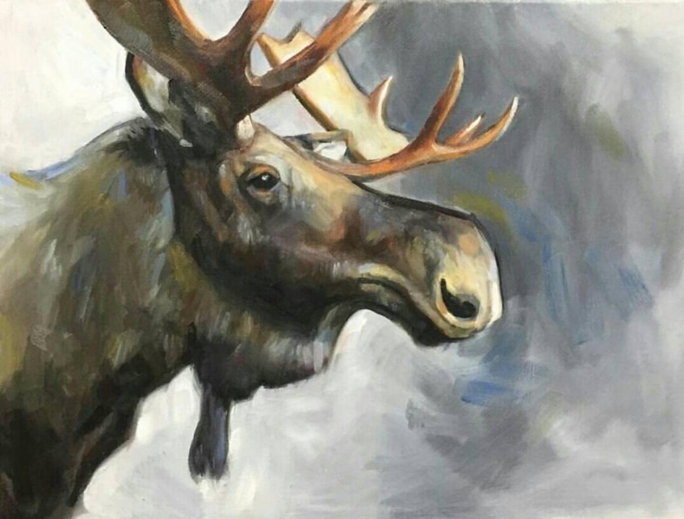 Moose, 9x12
