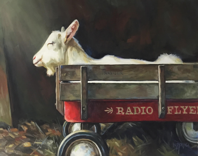 Rescue Goat, 16x20