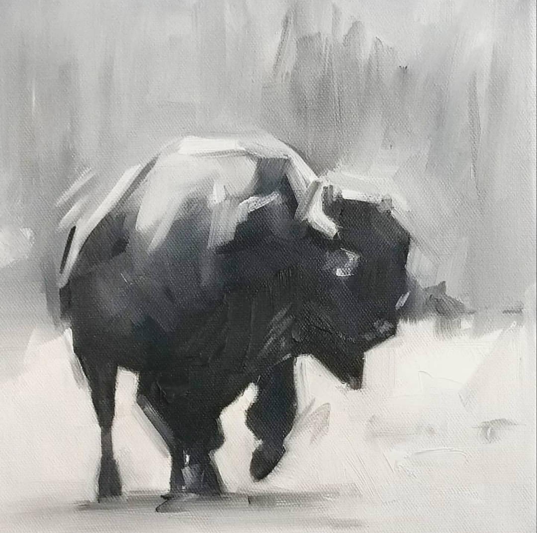 Bison, 10x10