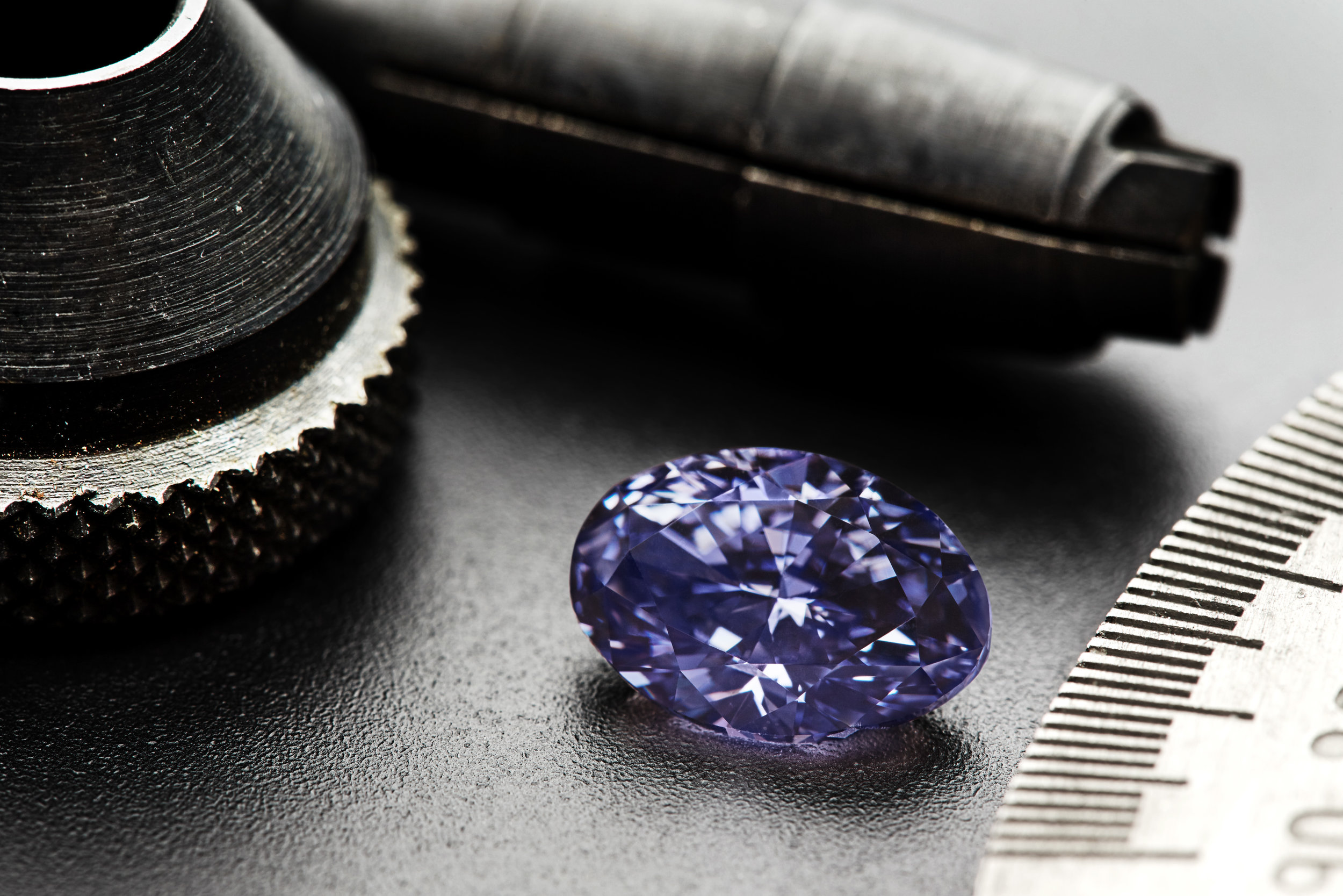 2.83-carat Argyle Violet, the largest and most valuable violet diamond recovered to date from the Argyle mine.