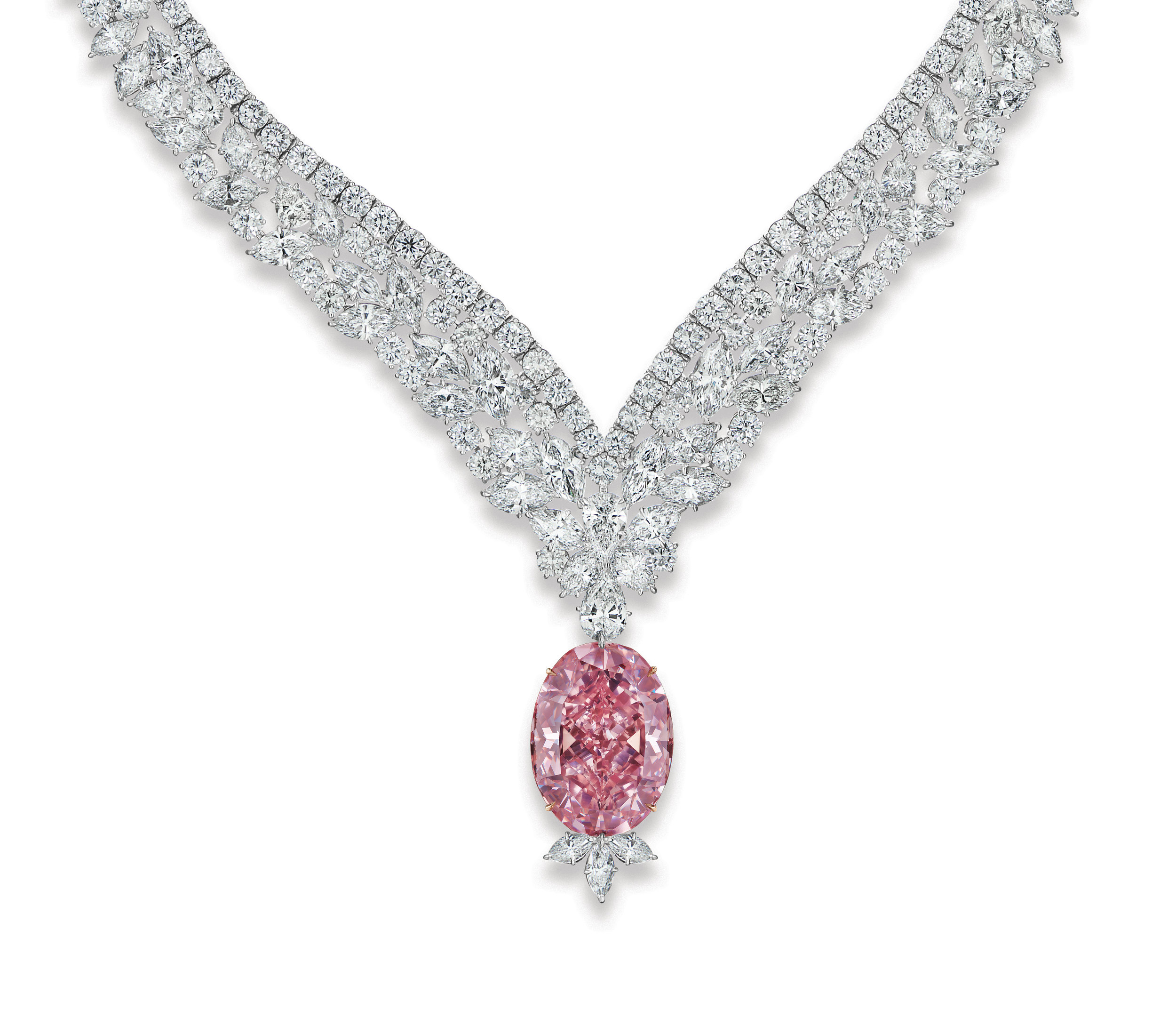 The Juliet Pink Diamond Necklace