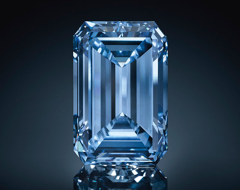 14.62 carats, the breathtaking Oppenheimer Blue vivid diamond. Image courtesy of Christie's