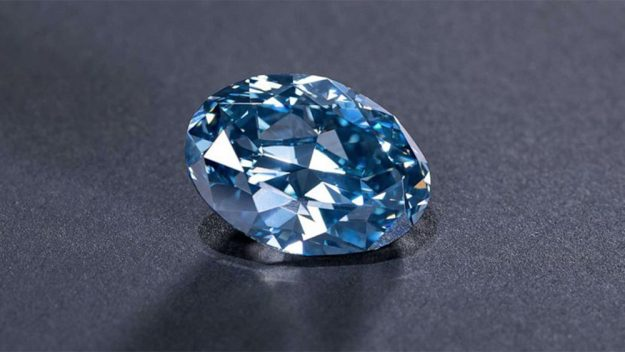 Botswana unveiled the 'Okavango Blue,' a rare blue diamond weighing more than 20 carats and the largest blue diamond discovery ever made in the country. (Photo Credit: Okavango Diamond Company)