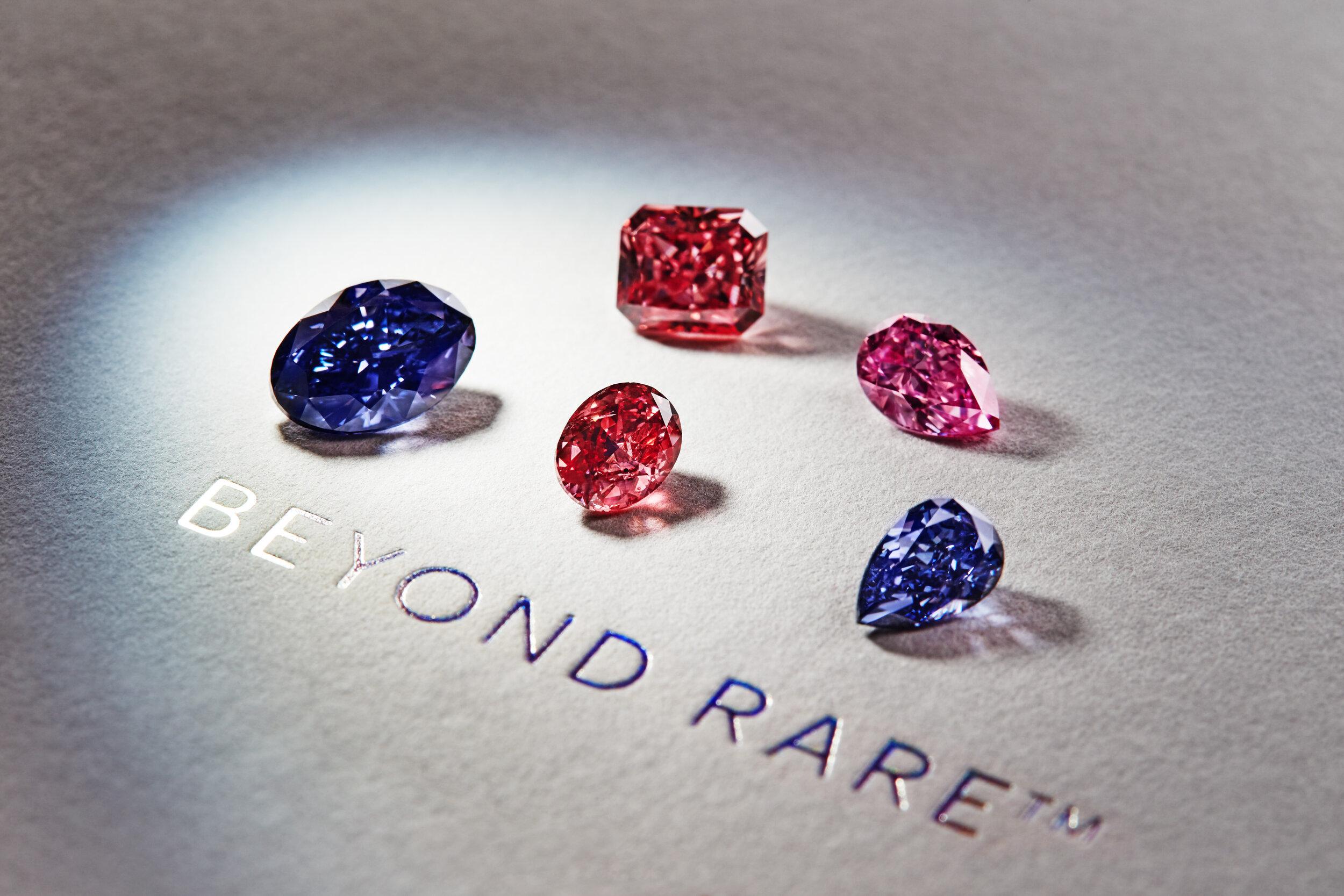2016 Argyle Tender hero stones (Lot 1 Argyle Violet Diamond) - Image courtesy of Rio Tinto (Argyle)