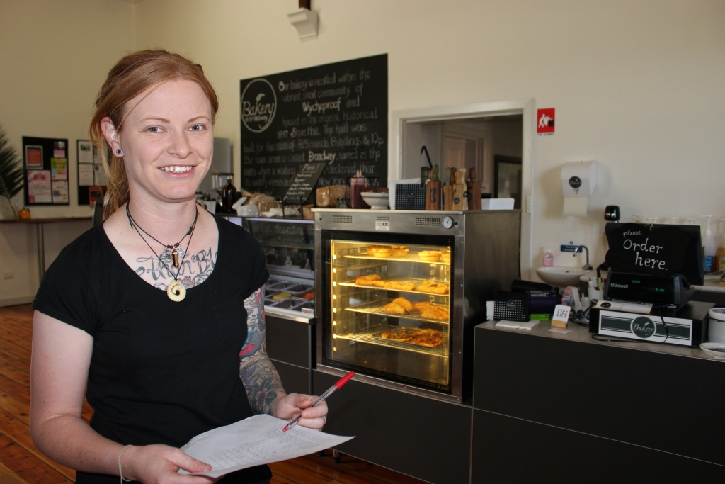 25 year old Cobie has been appointed manager of the new Bakery on Broadway.