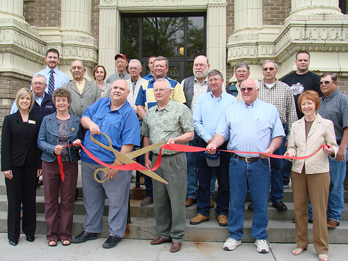 The Ord Chamber of Commerce celebrates every new enterprise with a ribbon cutting ceremony.