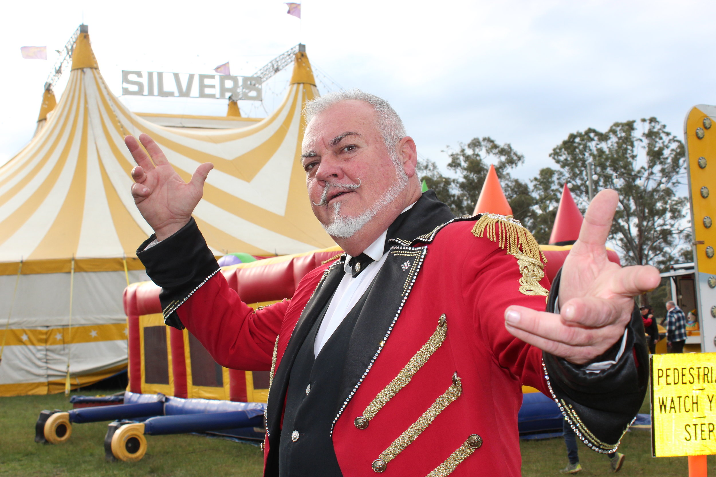 Ringmaster, Simon Tait, is excited that Silvers Circus has significantly evolved through international acts and technology.