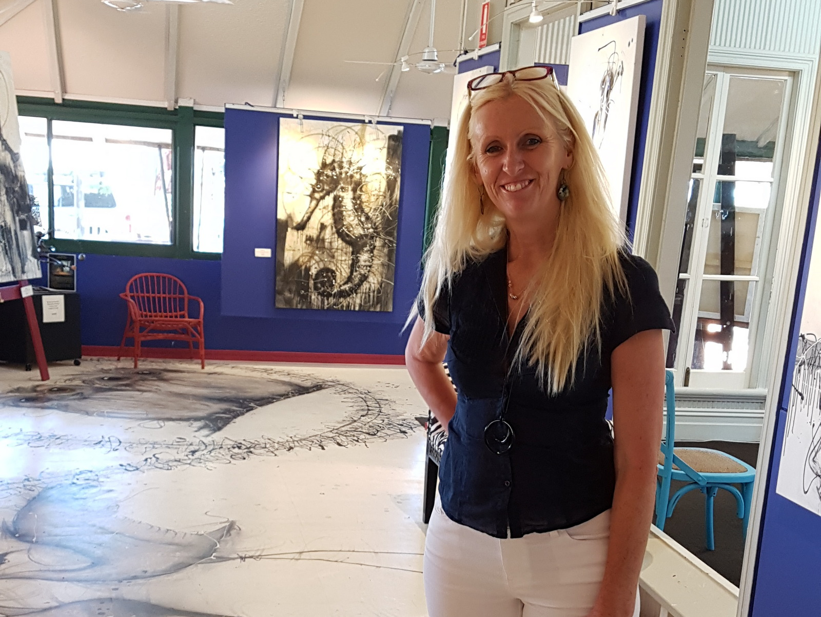Sobrane in her Broome WA studio