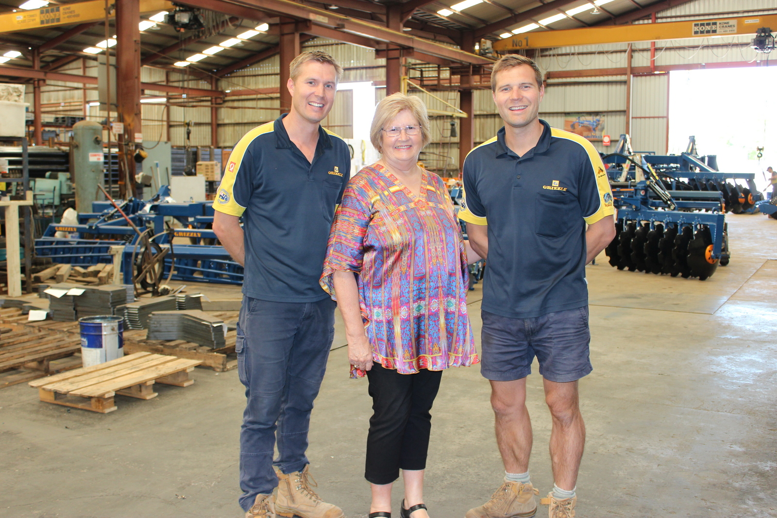 Grizzly Engineering's directors, Kurt and Skye Poltrock with Wendy McAllister (centre)