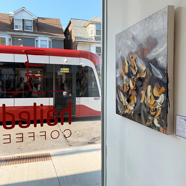 Welcoming a new series of Hailed Artists in collaboration with @helloartcanada we are featuring four outstanding local artists. Drop by and enjoy a cup of coffee and a moment of reflection on thoughtful art pieces.