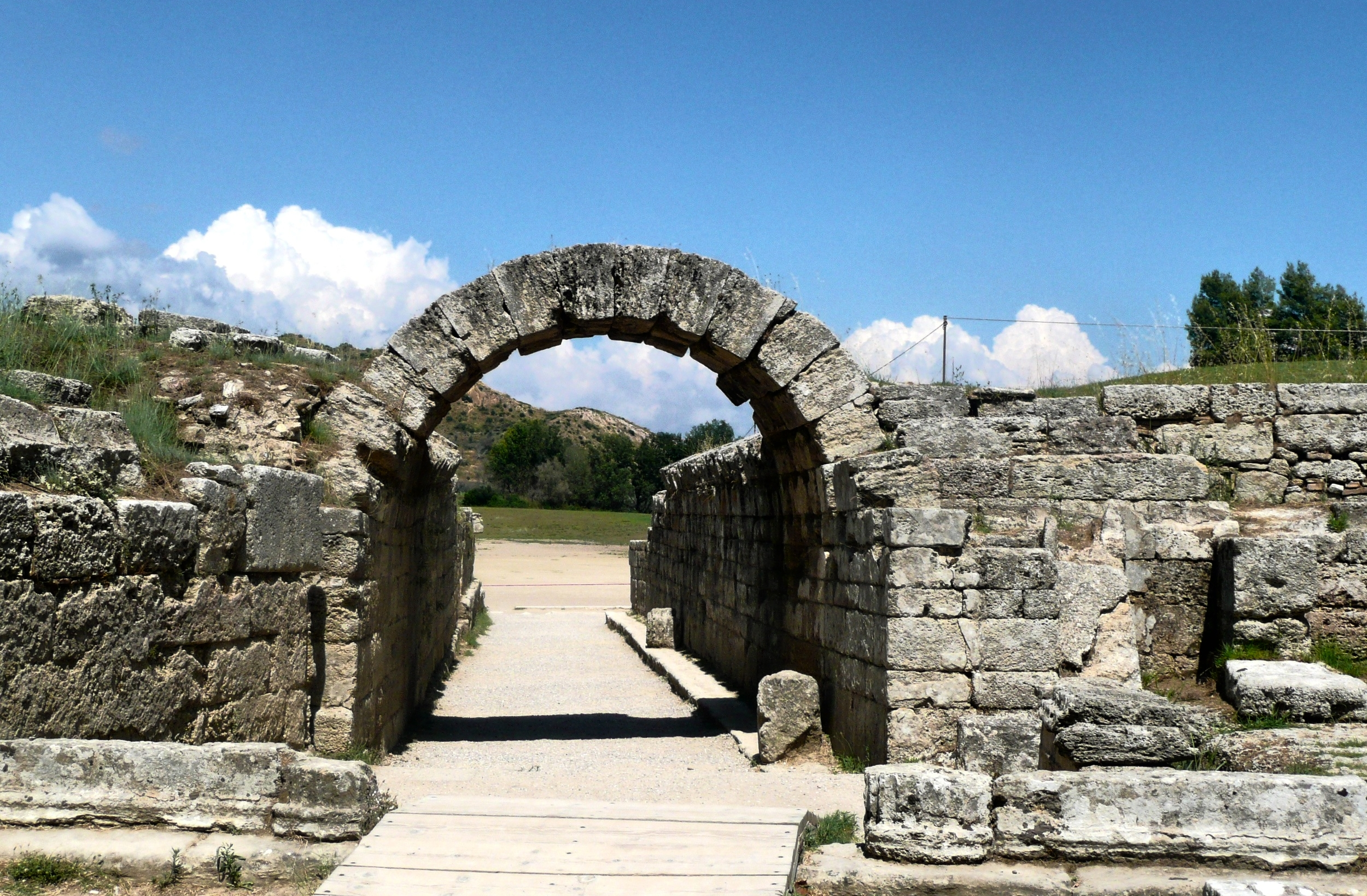 Location of first ancient Olympic Games