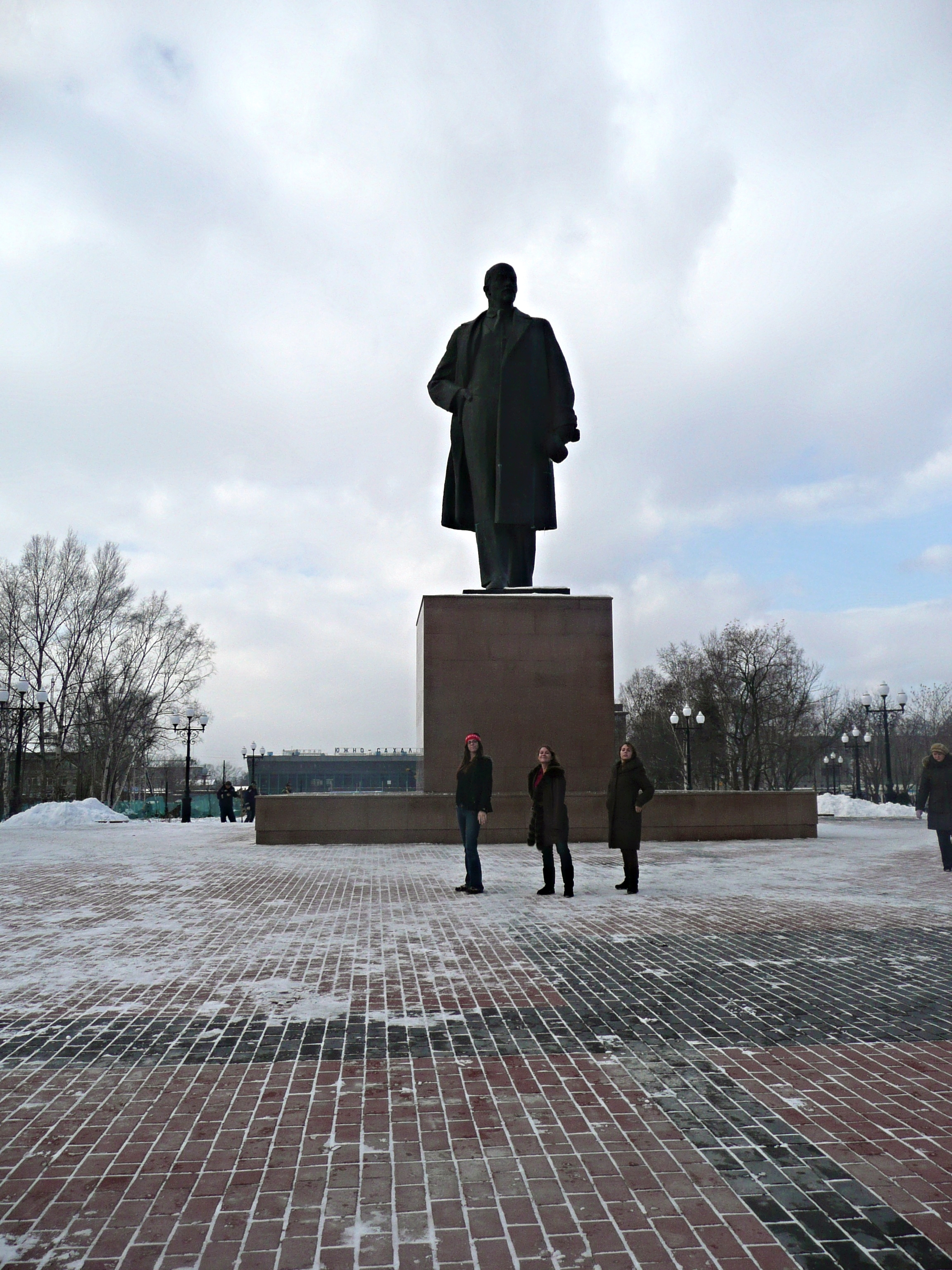 Statue of Lenin in Central Yuzhno Sakhalinsk