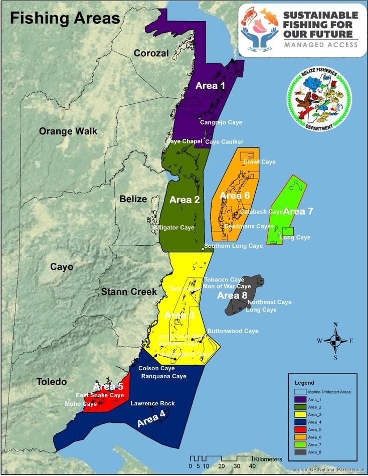 Fishing Zones in Belize