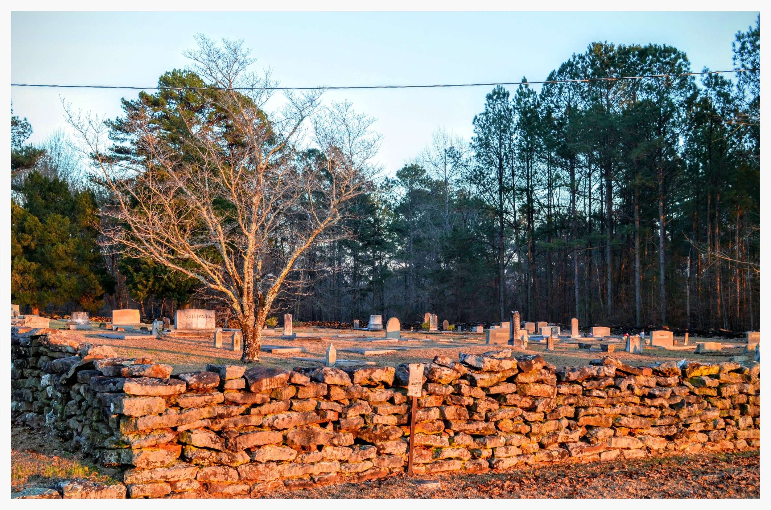 South side cemetery, Pisgah Primitive Baptist Church, Montgomery County, Alabama