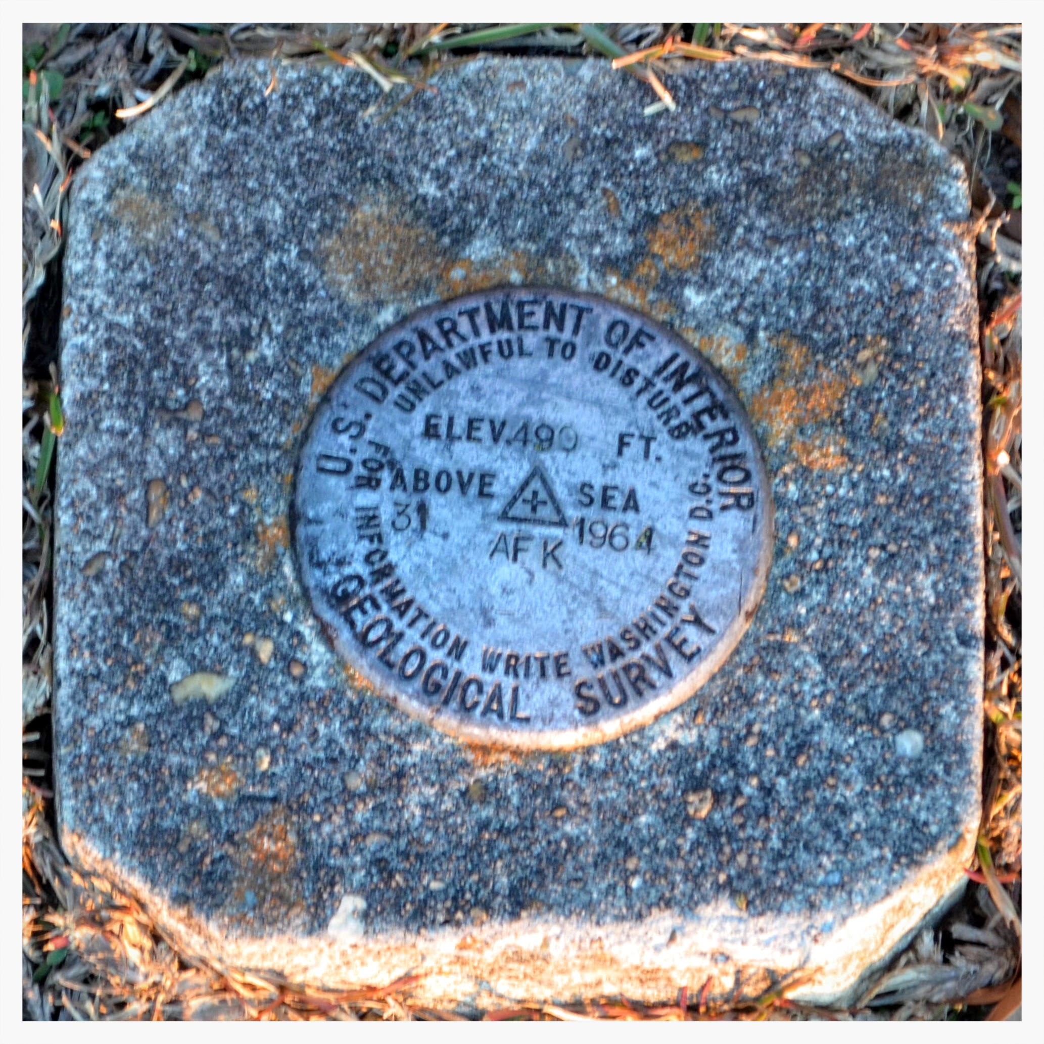 U.S. Geological Survey marker, Pisgah Primtive Baptist Church, Montgomery County, Alabama