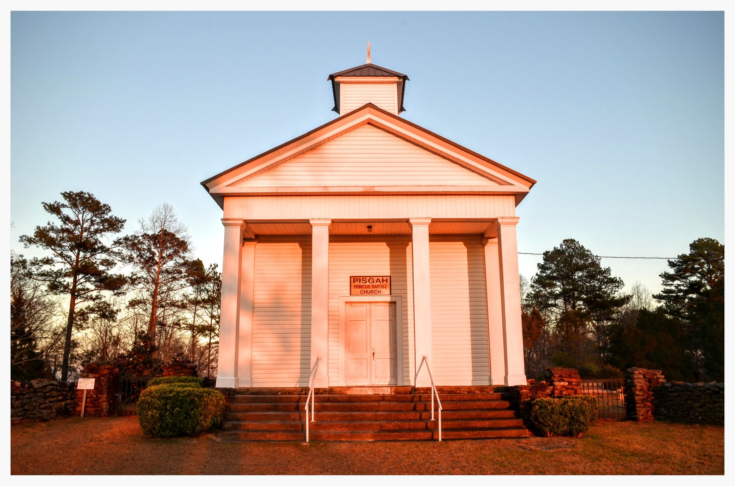 Front view, Pisgah Primitive Baptist Church, Montgomery County, Alabama