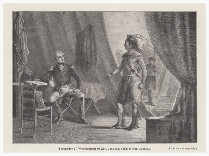 William Weatherford, aka Red Eagle, 1814 (image courtesy of Alabama Department of Archives & History)