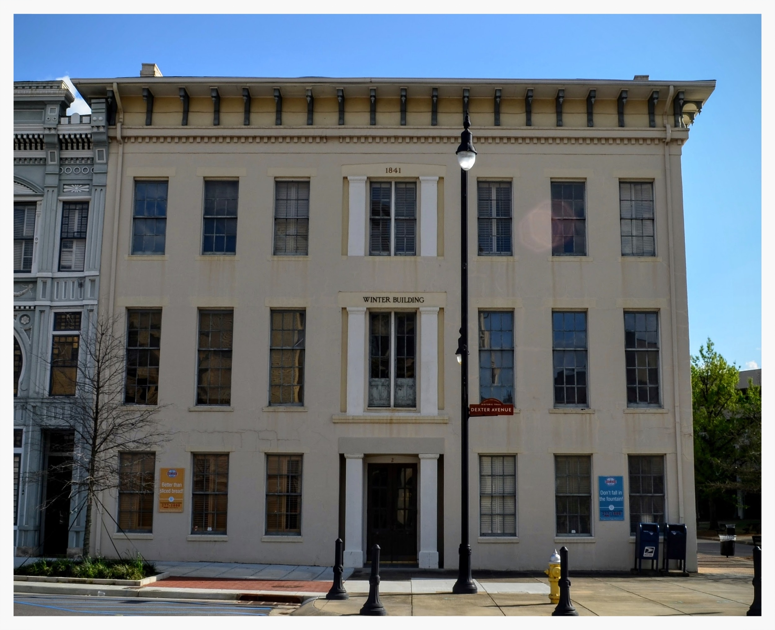 Front of the Winter Building from Dexter Avenue, Montgomery, Montgomery County, Alabama