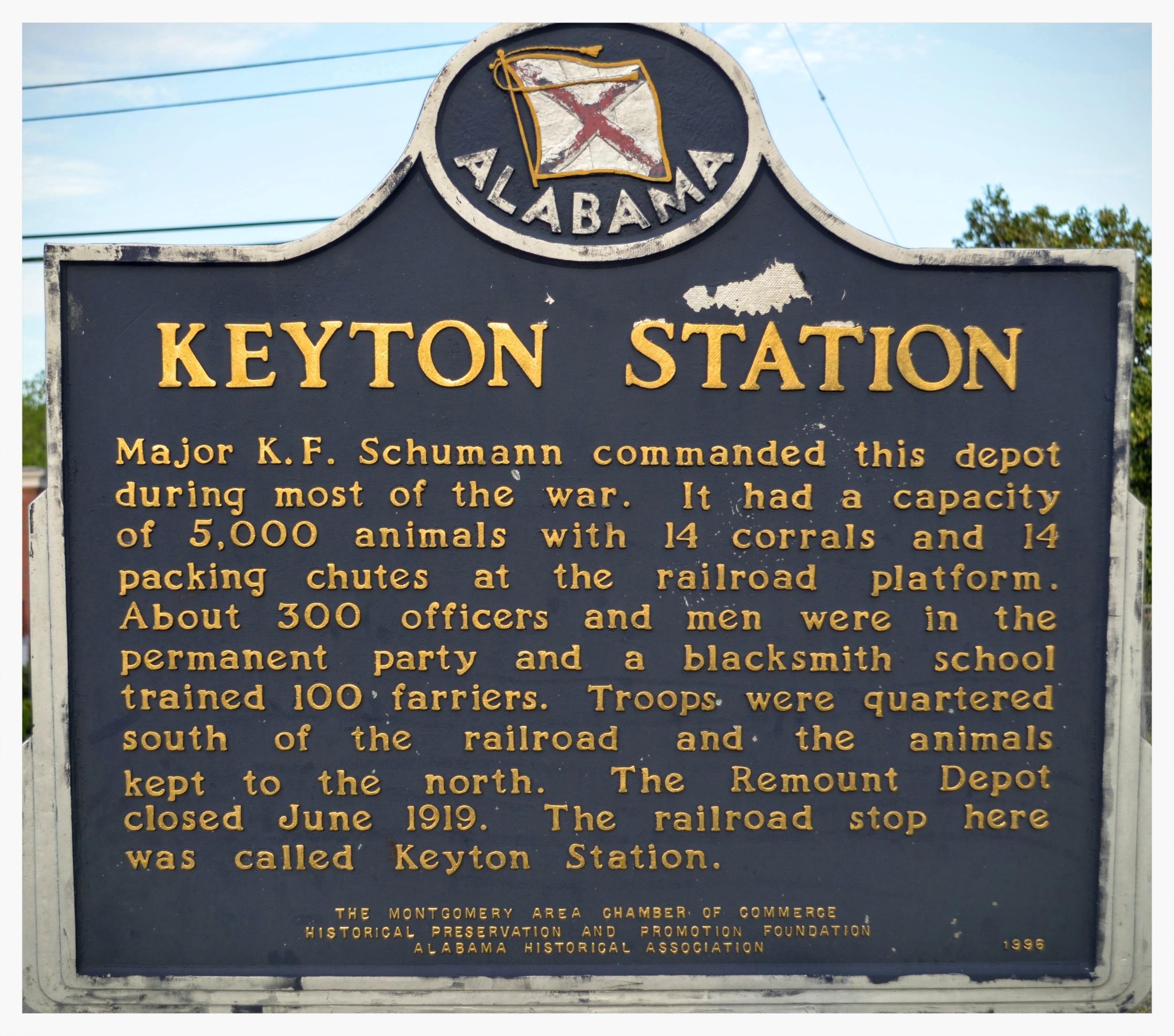 Reverse of Remount Depot historical marker, Montgomery, Montgomery County, Alabama