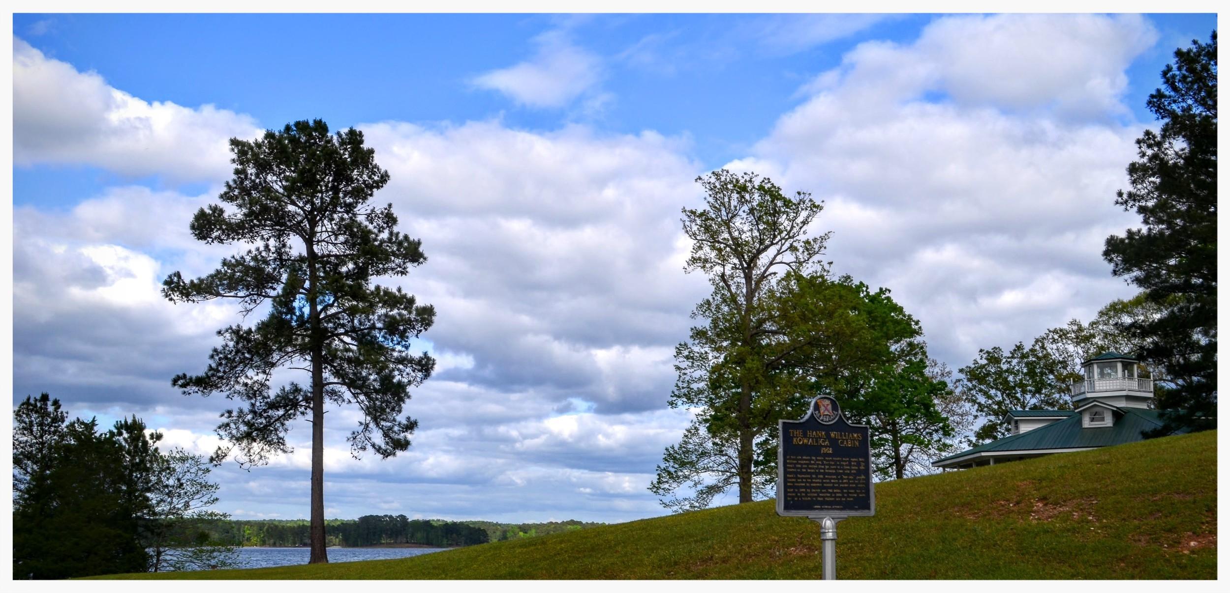 Kowaliga Cabin historical marker setting, Children's Harbor, Eclectic, Elmore County, Alabama