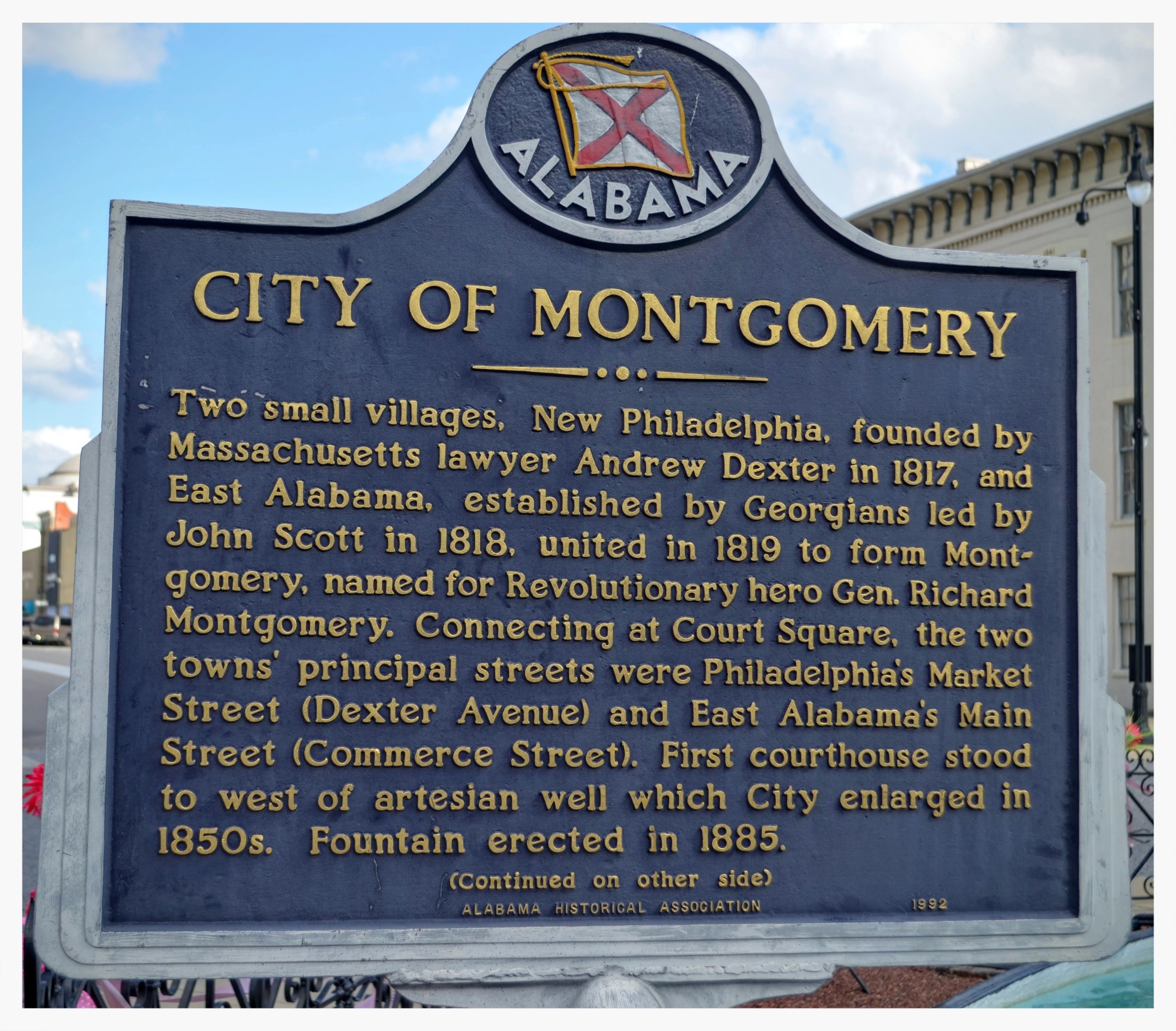City of Montgomery historical marker, Montgomery, Montgomery County, Alabama