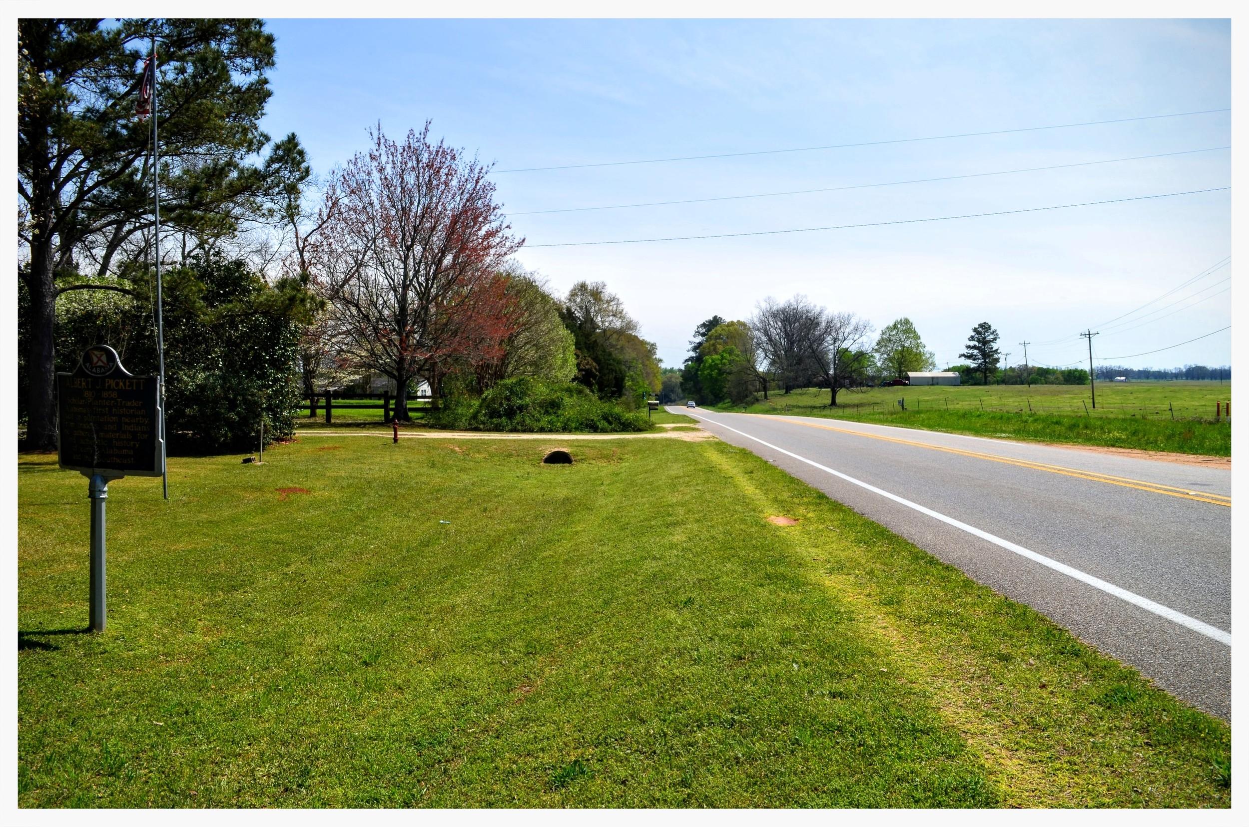 Site of Albert J. Pickett historical marker, Autaugaville, Autauga County, Alabama