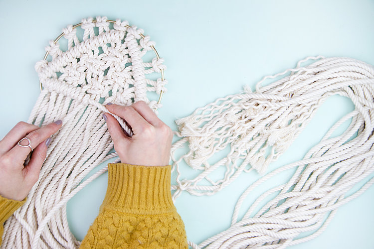 Make a Chic Macrame Wall Hanging