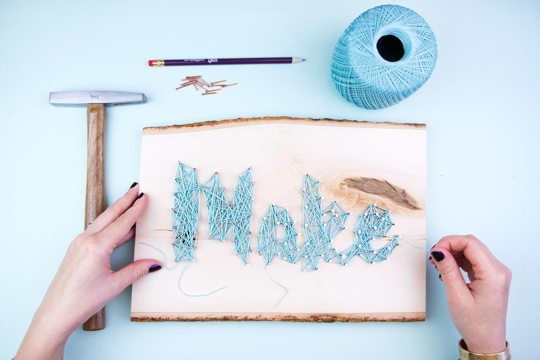 Make a String Art Decoration
