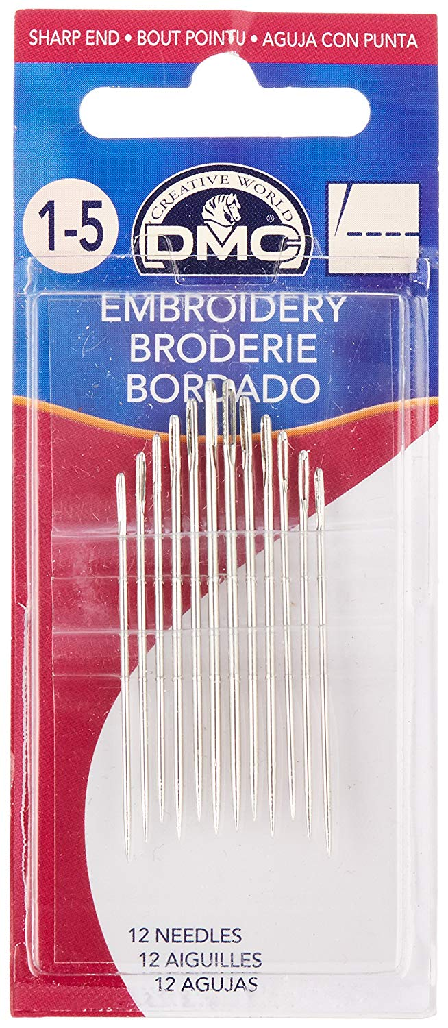 DMC Embroidery Hand Needles, 12-Pack