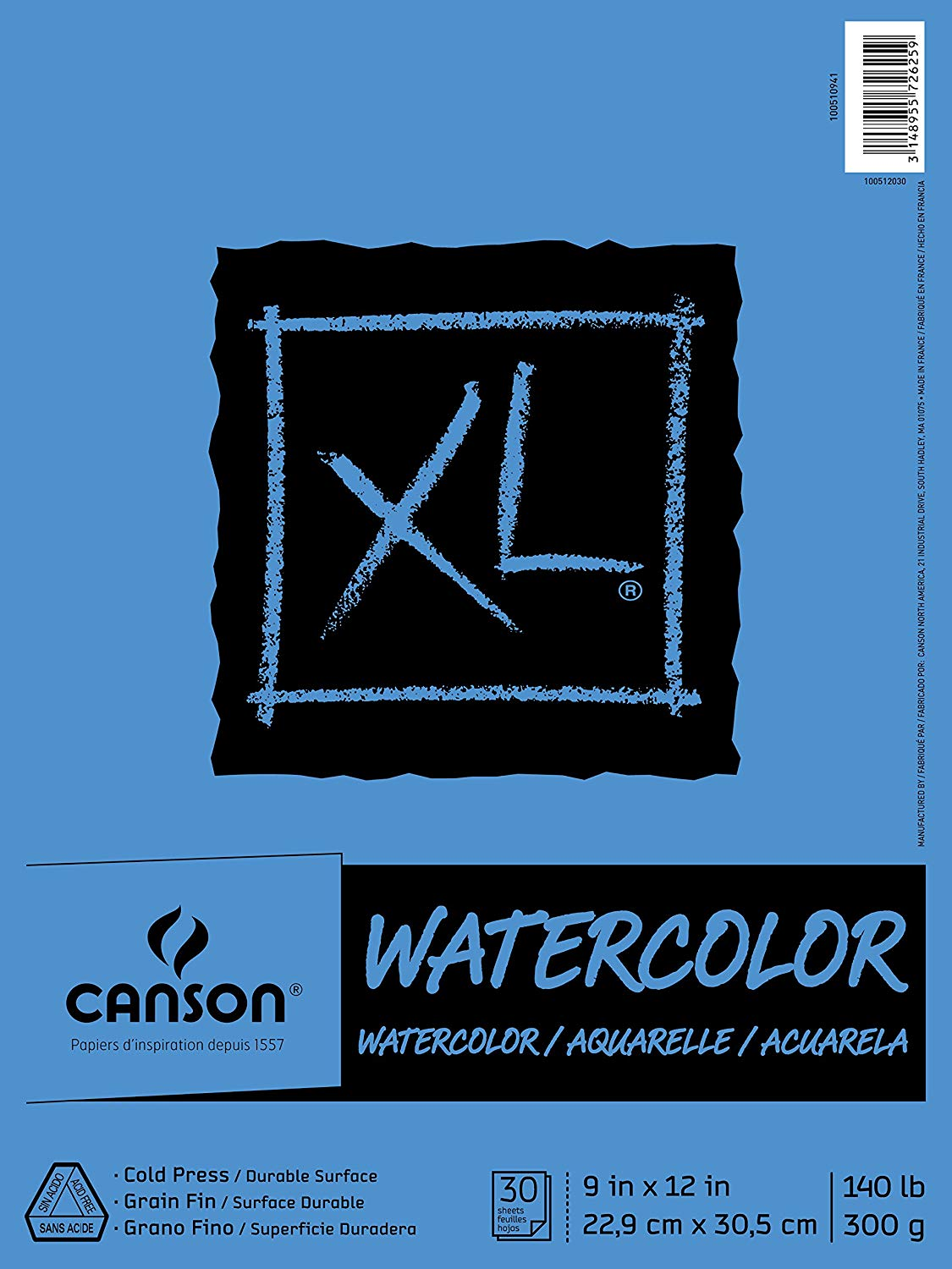 Canson Watercolor Textured Paper Pad