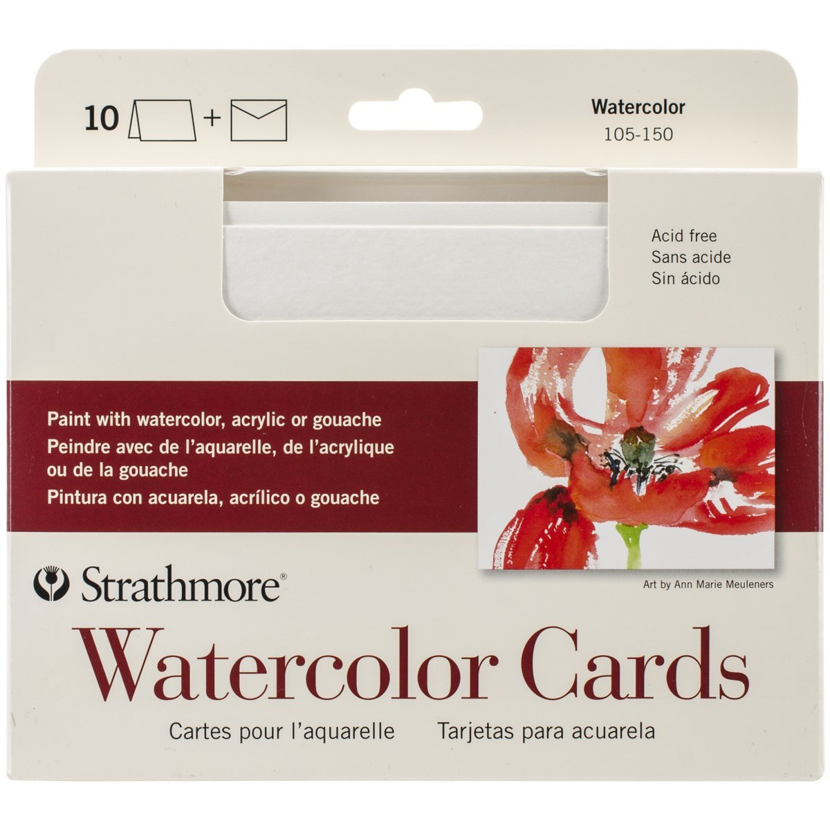 Watercolor Cards, Cold Press, 10 Cards & Envelopes