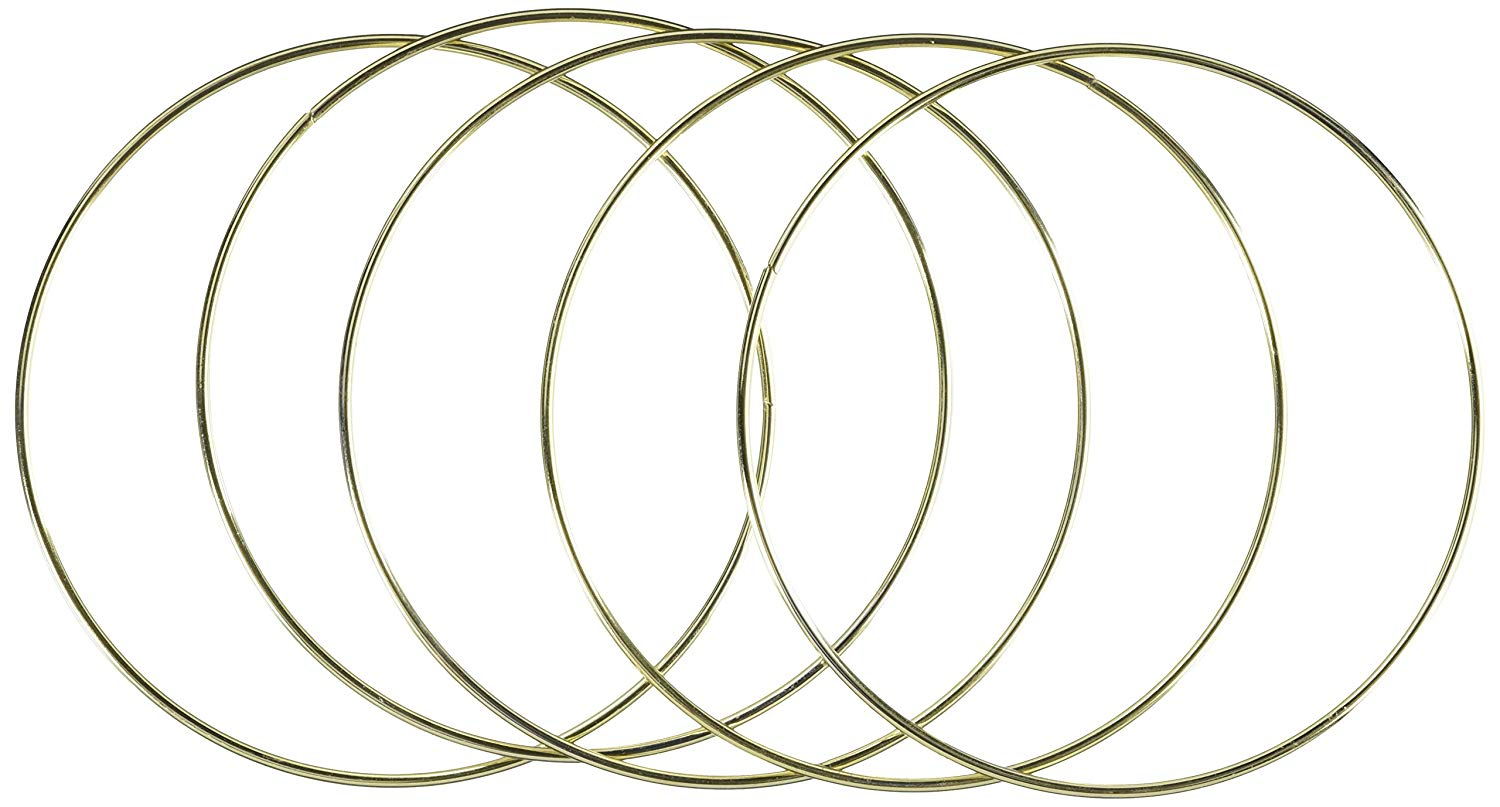 "Metal Gold Ring 8"", 6-Pack"