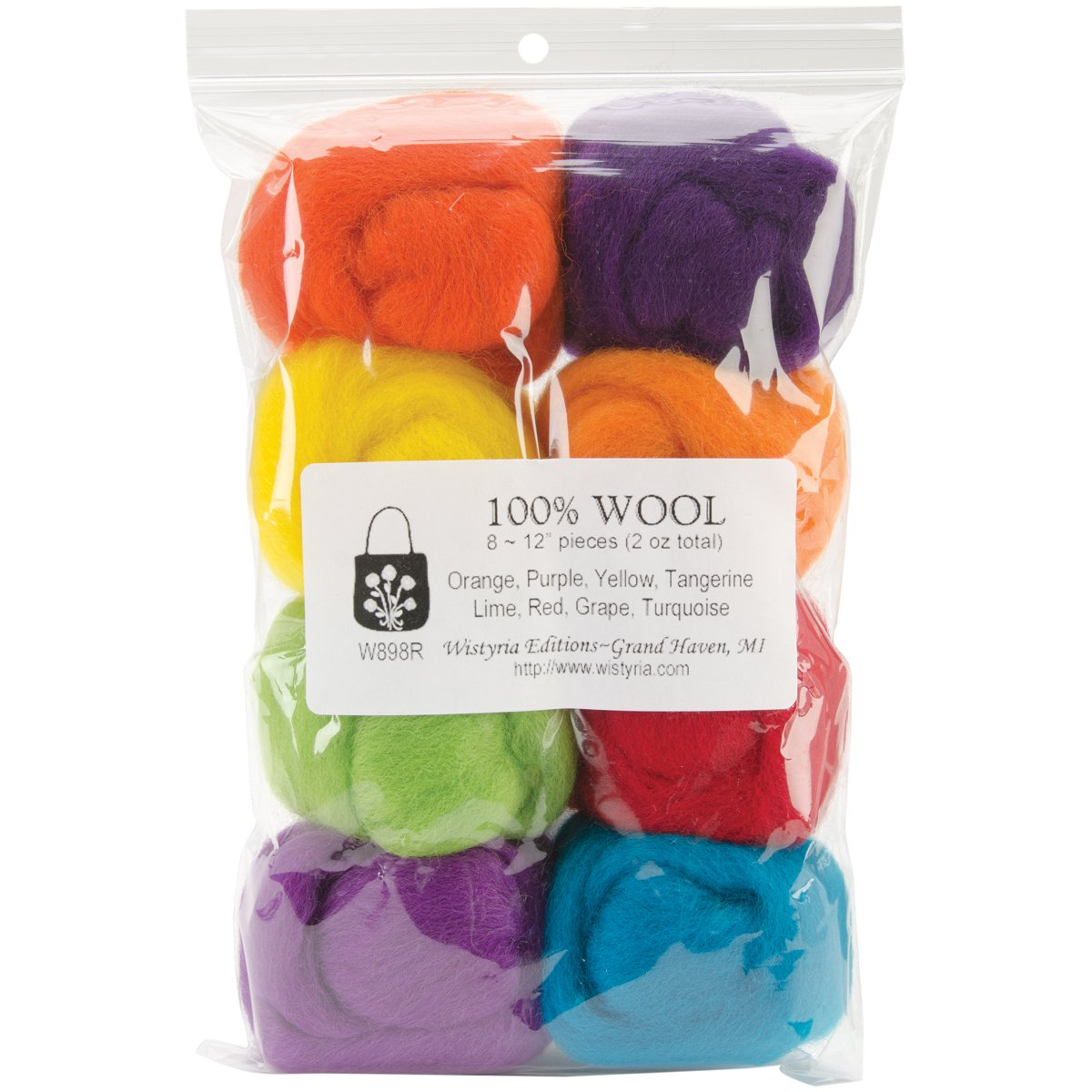 Wool Roving, 8-Pack