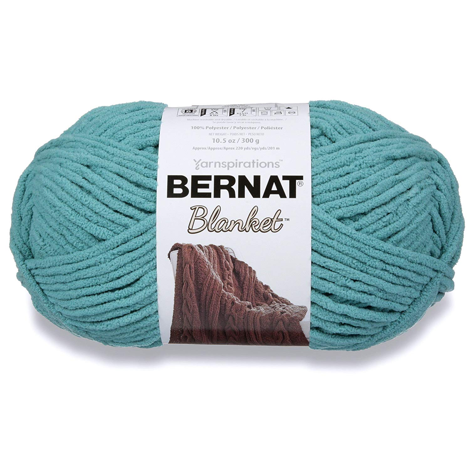 Bernat Blanket Yarn, Light Teal