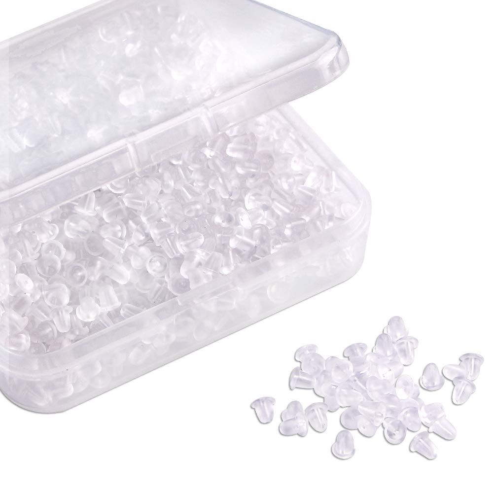 Silicone Earring Backs 1000 Pieces