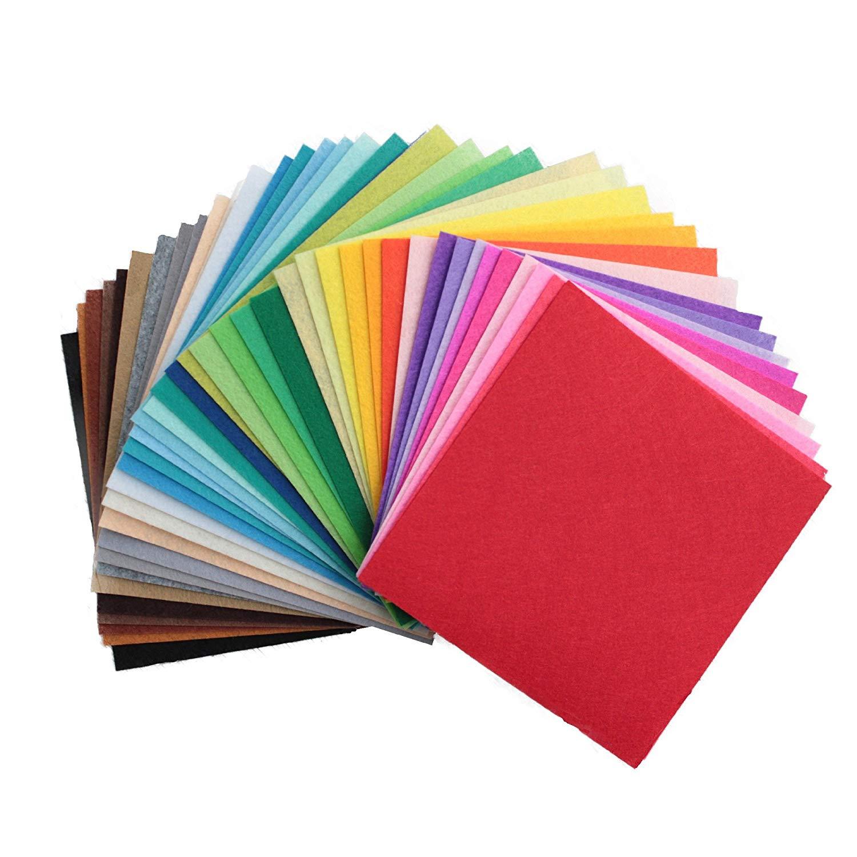 Stiff Felt Fabric Squares, 40 Sheets