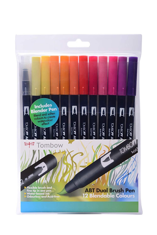 Tombow Dual Brush Pen Set, Pack of 12