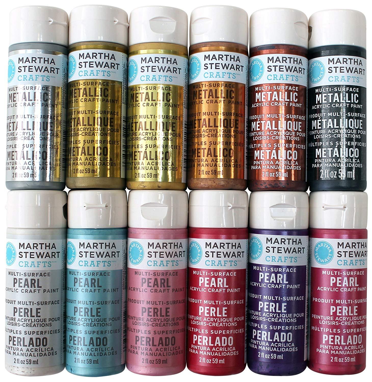 Martha Stewart Crafts Acrylic Metallic Paint Set