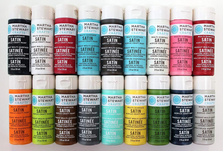 Martha Stewart Crafts Satin Acrylic Paint Set
