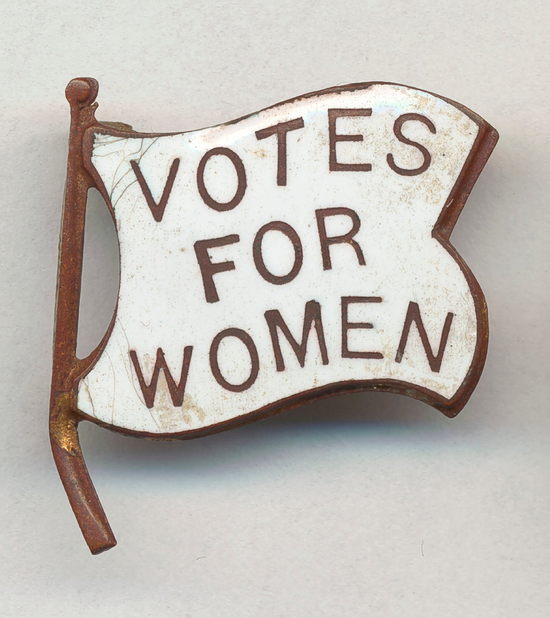 Pro-suffrage pin, circa 1910. Chicago History Museum/Getty Images, via The New York Times.