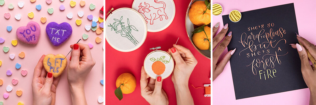 On Gina's Workshop list:   needle felting  ,   Lunar New Year embroidery   and   calligraphy  .