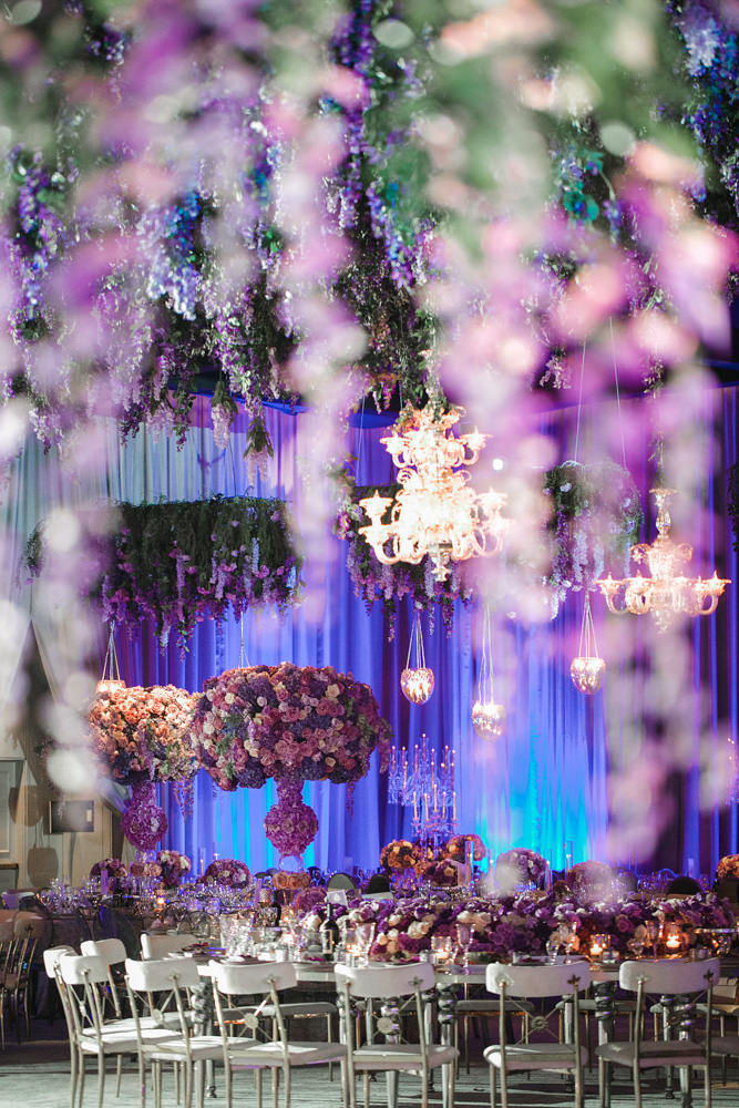 Purple and lavender wisteria inspired wedding floral decor by Eddie Zaratsian Lifestyle and Design, Photo by Jessica Claire