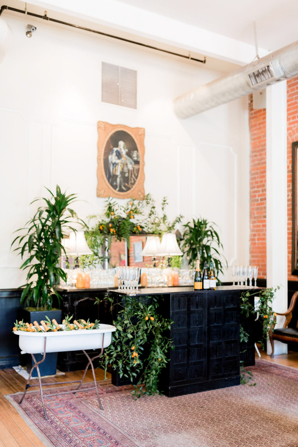 Beautiful bar area at the Allison Webb Spring 2019 Bridal Fashion Event, Designed by Eddie Zaratsian, Photo by Jessica Grazia Mangia Photography