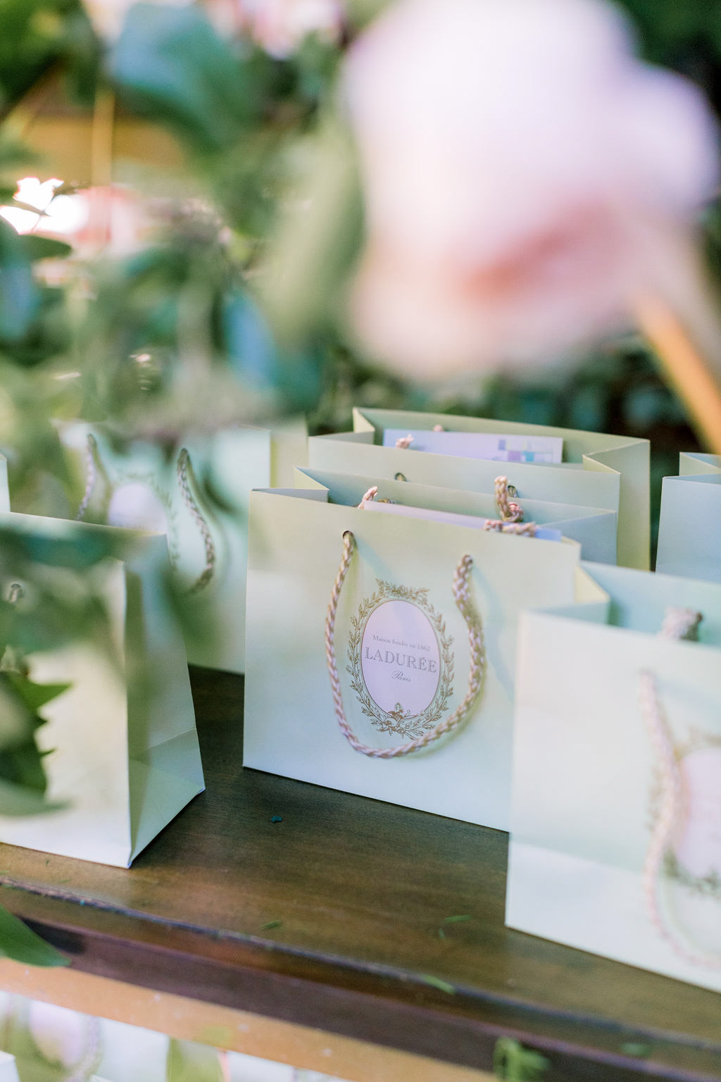 La Duree party favors at the Allison Webb Spring 2019 Bridal Fashion Event, Designed by Eddie Zaratsian, Photo by Jessica Grazia Mangia Photography