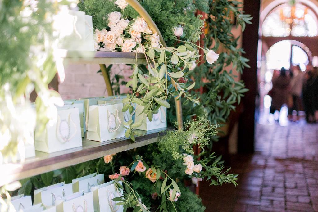 La Duree gift station at the Allison Webb Spring 2019 Bridal Fashion Event, Designed by Eddie Zaratsian, Photo by Jessica Grazia Mangia Photography