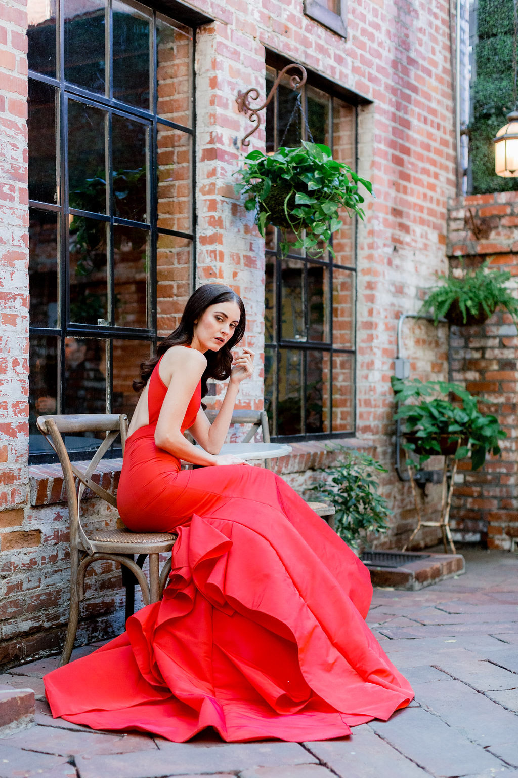 Red Blaire dress from the Allison Webb Spring 2019 Bridal Fashion Event in LA, Photo by Jessica Grazia Mangia Photography