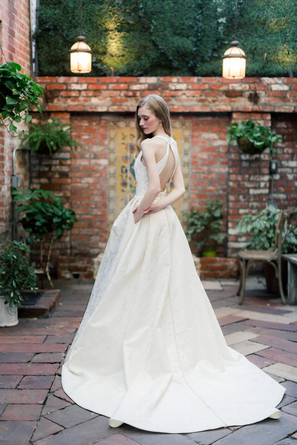 Rose wedding dress from the Allison Webb Spring 2019 Bridal Fashion Event in LA, Photo by Jessica Grazia Mangia Photography