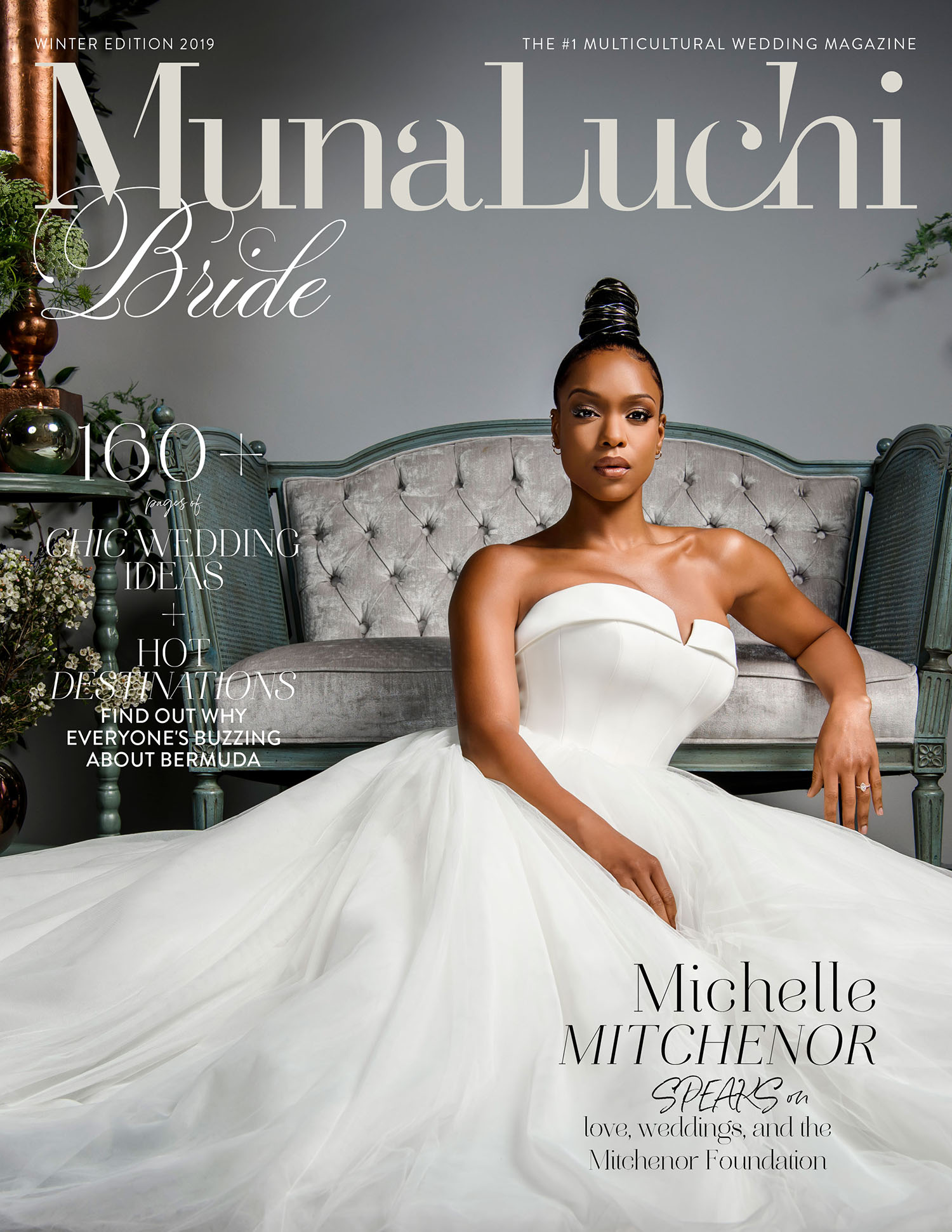 MunaLuchi Bride Winter 2019 Michelle Mitchenor Cover Story - Set design by Eddie Zaratsian